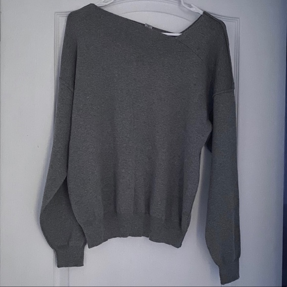 (NWOt) Forever21 Asymetrical neck gray sweater